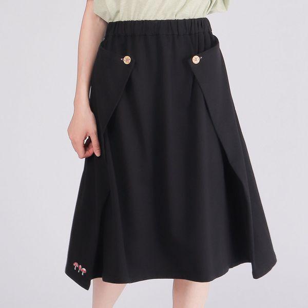 美膚膠原蛋白立體感傘裙(女)-黑