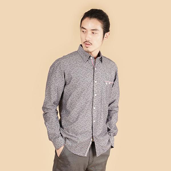埃及棉舒適休閒襯衫(男)-鐵灰