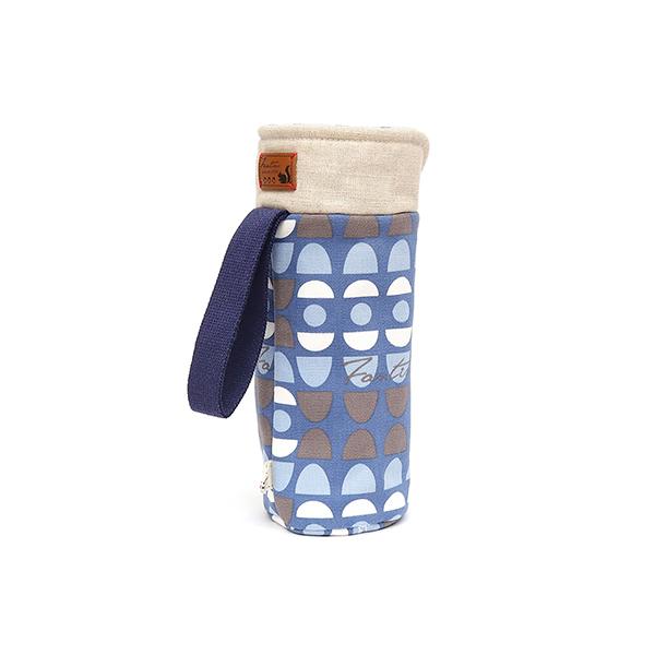 保溫防撞水壺袋/水瓶提袋(水玉迷宮)-藍水玉 保溫袋,水壺袋,水壺提袋,保冰溫,手攜式,防撞,防摔,保溫瓶,玻璃瓶,水壺,學生,保溫杯套,隔熱保護,水杯套