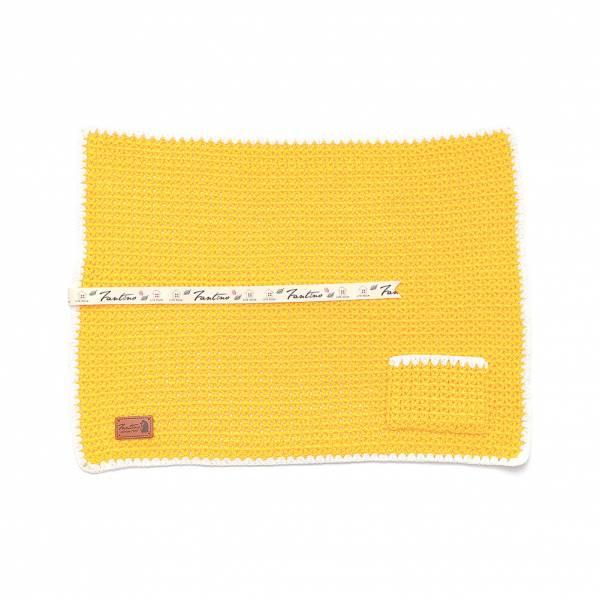 職人手作針織編織餐墊/餐具收納袋(不含餐具)-蛋黃色 手工布料,台灣設計,台灣製造,花布設計,質感袋包,文創設計,刺蝟,提袋,包包,居家良品,提袋,手提包,方包,肩背包,側背包