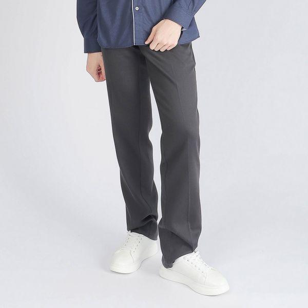 埃及棉休閒棉褲(男)-深灰