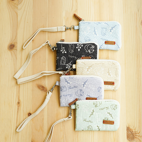森林萬花筒手掛式票卡夾/零錢包-共5色 手工布料,台灣設計,台灣製造,花布設計,質感袋包,文創設計,刺蝟,提袋,包包,居家良品,提袋,手提包,方包,肩背包,側背包