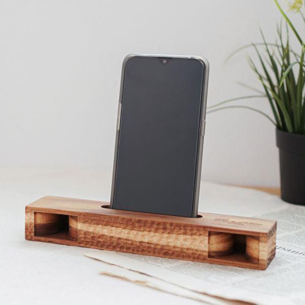 天然柚木手機擴音座-波點款/條紋款│B款 柚木,手機擴音座