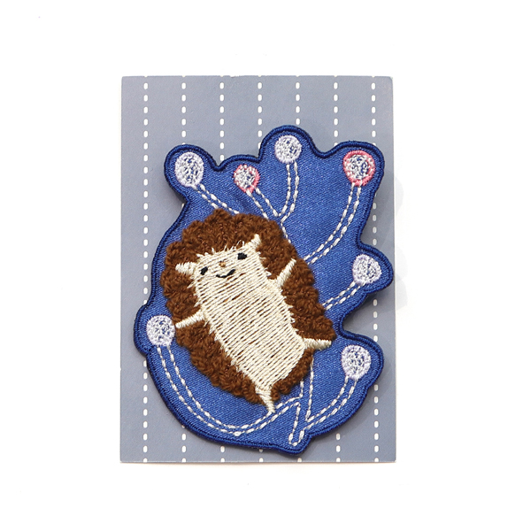 獨家設計刺繡胸章(蒲公英) 胸章,徽章,台灣製造,婚禮小物,刺蝟