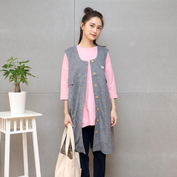 羊毛長板背心(淺灰) 休閒服,舒適,刺繡,台灣設計,台灣製造,文青,文創設計,刺蝟,戶外休閒