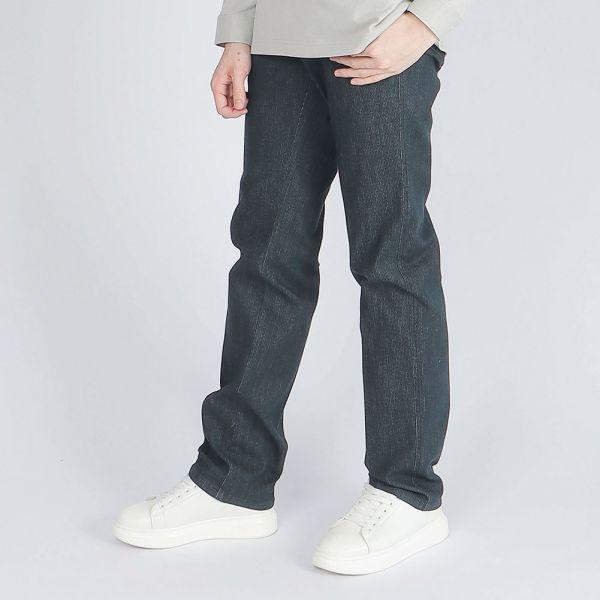 COOLMAX吸濕排汗埃及棉牛仔褲(男)-軍綠