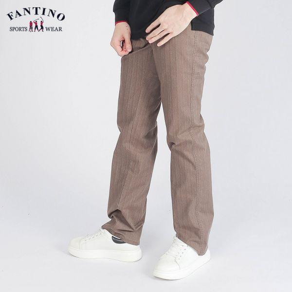 休閒棉褲(男)-深褐