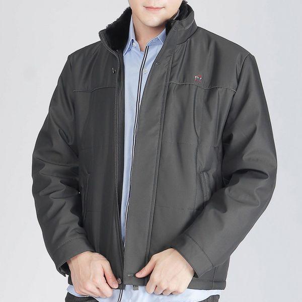 保暖厚外套(男)-褐色
