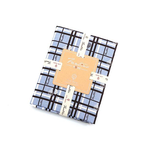 棉麻布料(格紋街區)-天空藍  布,台灣設計,台灣製造,手工藝,布料,文創設計,刺蝟,手作,居家良品,棉麻,布料,服裝輔料,diy,手工製作,手工材料