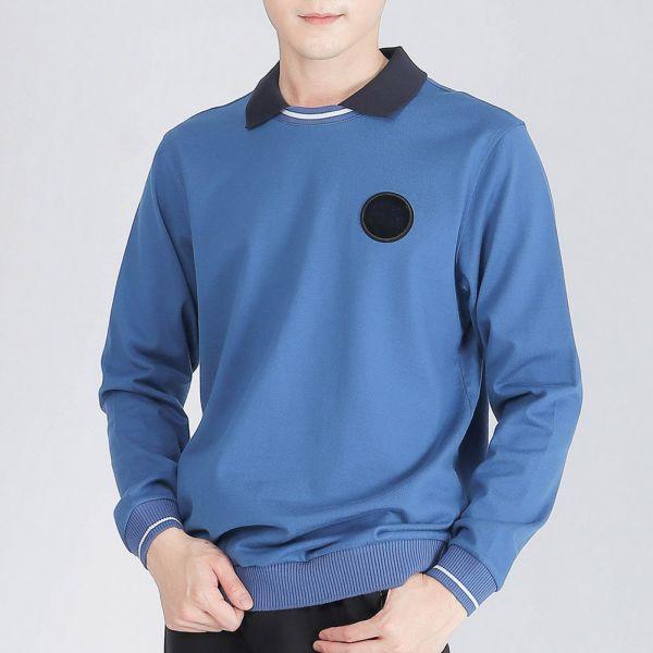 埃及棉棉衫(男)-深藍