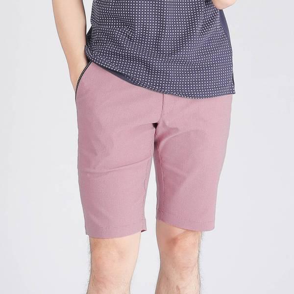 彈性休閒短褲(男)-紅色