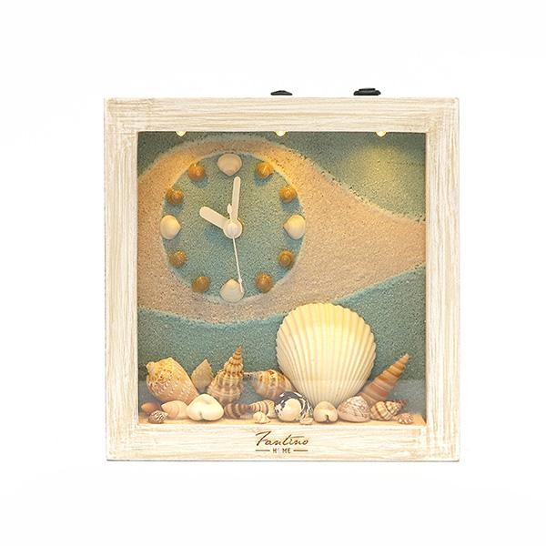 海洋深呼吸 手工木作時鐘-貝殼天堂 鐘左 家居品, 時鐘, 原木時鐘, 海洋時鐘, 手工時鐘, 療癒時鐘