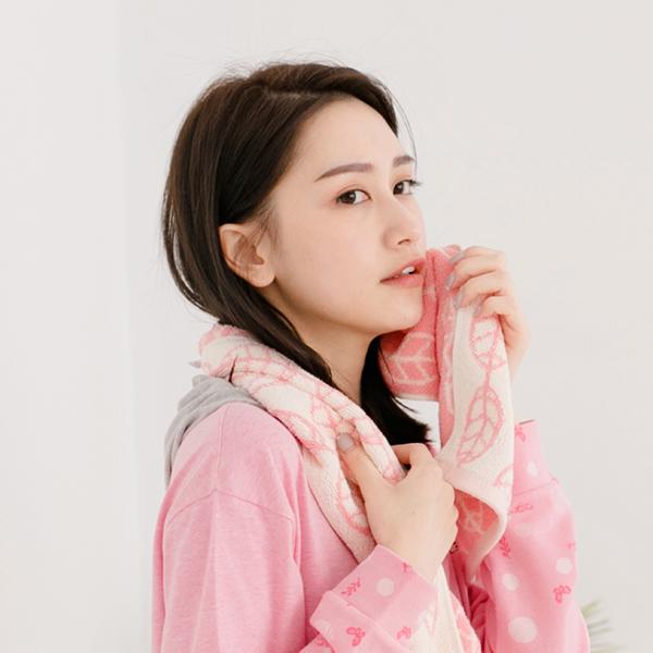 厚質手感色紗百分百棉吸水毛巾-馬卡龍粉 毛巾,台灣設計,台灣製造,浴巾組,質感,文創設計,葉子,居家良品,吸水,粉色