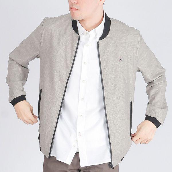 亞麻棒球夾克外套(男)-共2色