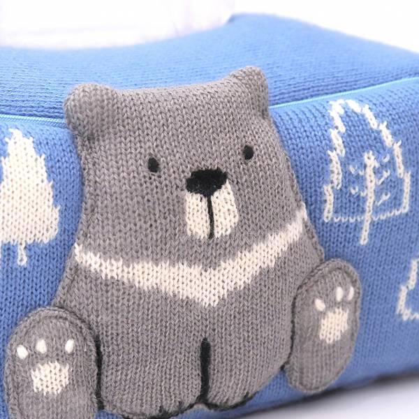台灣黑熊羊毛針織桌上型面紙套-共5色 手工布料,台灣設計,台灣製造,花布設計,質感袋包,文創設計,刺蝟,提袋,包包,居家良品,提袋,手提包,方包,肩背包,側背包