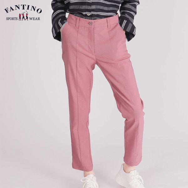 休閒棉褲(女)-紅