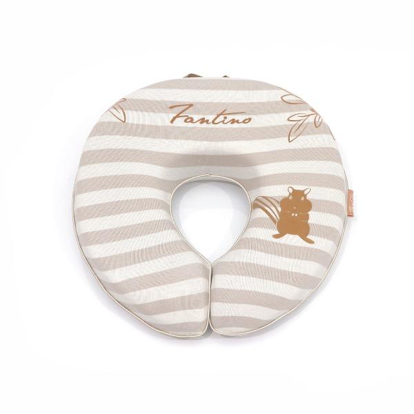 美膚纖維U型午安枕-奶茶咖 /高回彈PU太空棉抱枕護頸枕