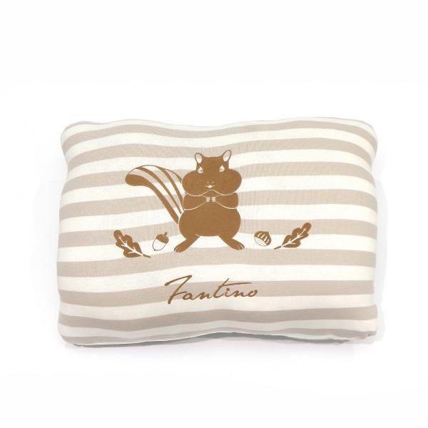 美膚纖維小松鼠暖手枕-奶茶咖