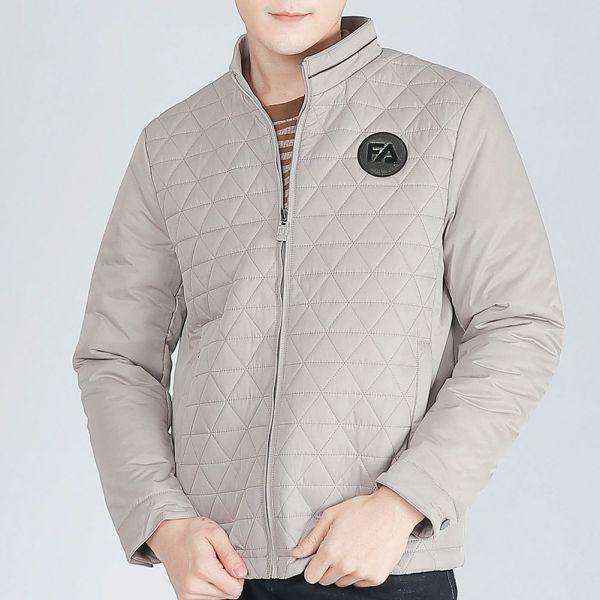 菱格鋪棉外套(男)-卡其