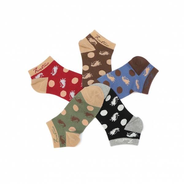 UMORFIL膠原蛋白抗菌除臭襪(刺蝟點點)共5色 女襪,台灣設計,台灣製造,文青,短襪,文創設計,刺蝟,膠原蛋白,居家良品,襪子
