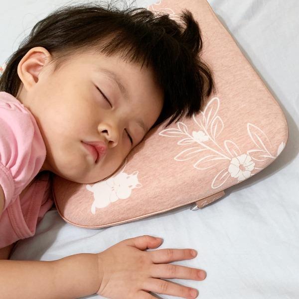 有機棉兒童好眠枕-麻花粉 兒童枕, 有機棉枕頭, 可愛枕頭