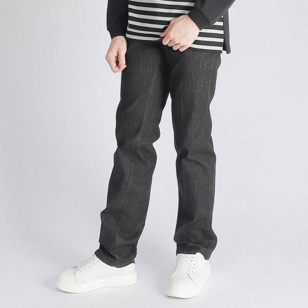 COOLMAX吸濕排汗埃及棉牛仔褲(男)-黑