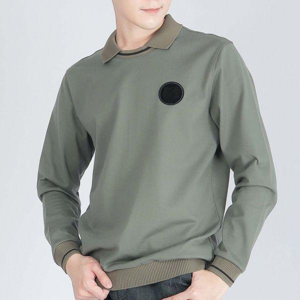 埃及棉棉衫(男)-百里香綠