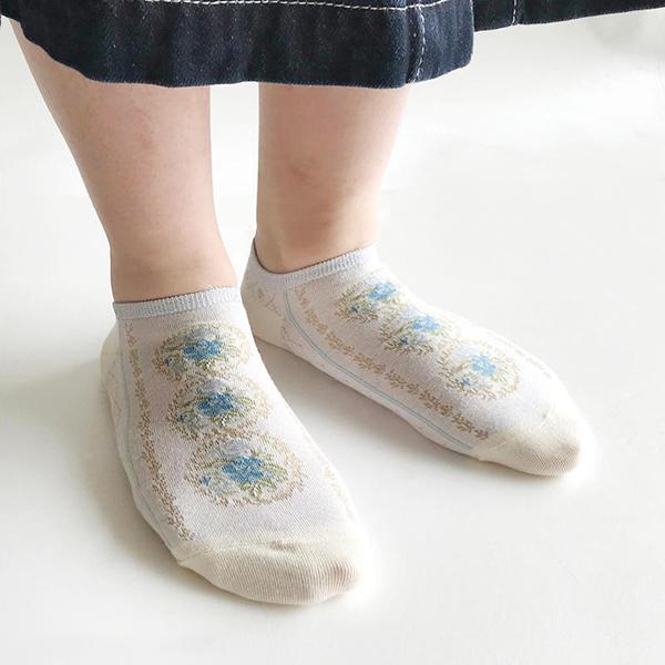 Fantino x Debby 踝襪 - Maison Blanche スニーカー ソックス(日本製)