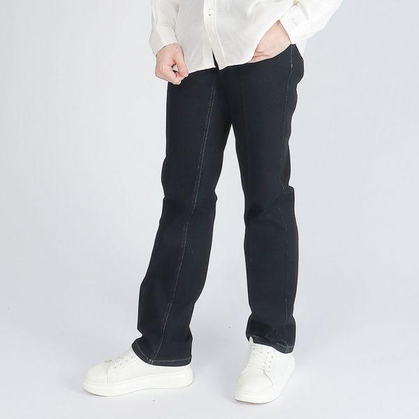 天絲棉牛仔褲(男)-黑