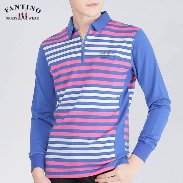 POLO衫(男)-橫紋紫