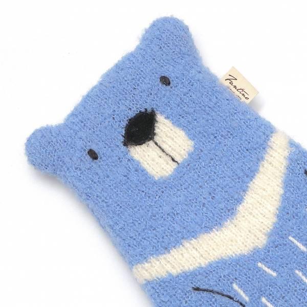 台灣黑熊羊毛針織筆袋-共5色 手工布料,台灣設計,台灣製造,花布設計,質感袋包,文創設計,刺蝟,提袋,包包,居家良品,提袋,手提包,方包,肩背包,側背包