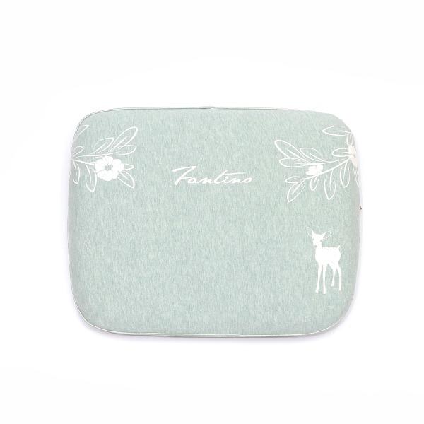 有機棉兒童好眠枕-麻花綠 兒童枕, 有機棉枕頭, 可愛枕頭