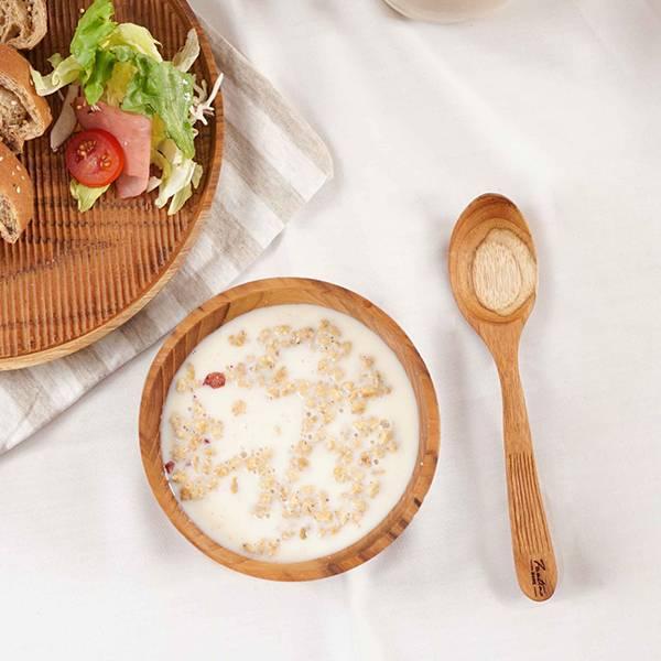 天然柚木叉子湯匙組-條紋款│食用安心不上漆原木製 柚木,廚房,餐具,木湯匙