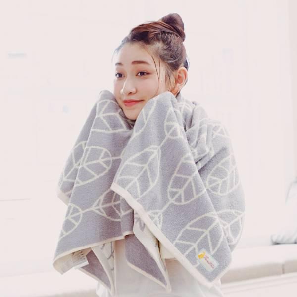 厚質手感色紗百分百棉吸水浴巾-藕紫灰 棉,毛巾,浴巾,運動巾,毛浴巾,浴室,台灣製造,吸水