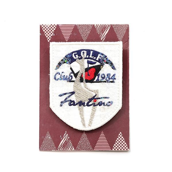 獨家設計刺繡胸章(高爾夫白) 胸章,徽章,台灣製造,婚禮小物,刺蝟