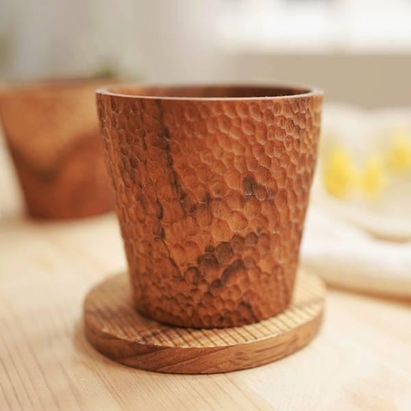天然柚木茶杯-波點款/條紋款 柚木,廚房,餐具,筷子,環保