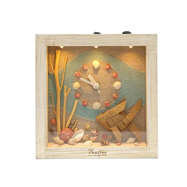 海洋深呼吸 手工木作時鐘-探索深海 魚右 家居品, 時鐘, 原木時鐘, 海洋時鐘, 手工時鐘, 療癒時鐘