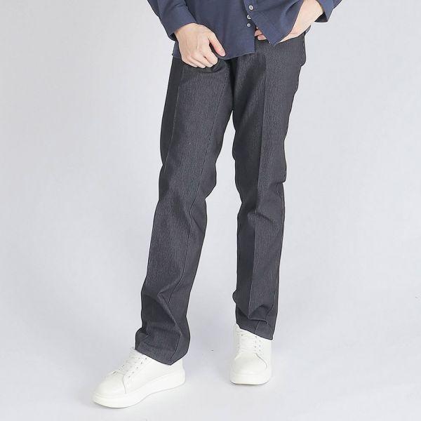 吸濕排汗棉褲(男)-深丈青條紋