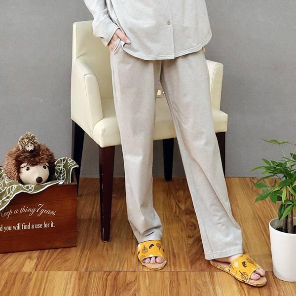 有機棉抽繩寬鬆家居褲/居家長褲(共5色) 家居服,舒適,刺繡,台灣設計,台灣製造,文青,文創設計,刺蝟,居家良品