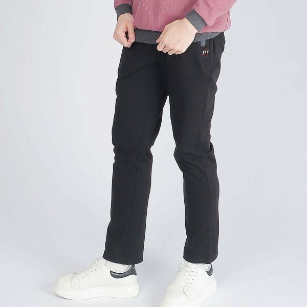 機能休閒棉褲(男)-黑