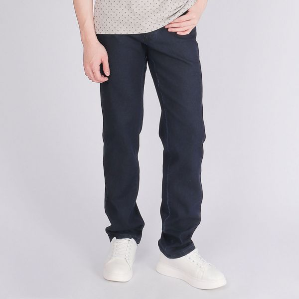 埃及棉舒適牛仔褲(男)-深藍