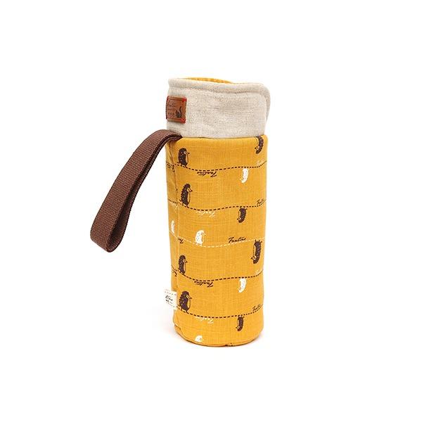 保溫防撞水壺袋/水瓶提袋(漫步一線間)-芥末黃 保溫袋,水壺袋,水壺提袋,保冰溫,手攜式,防撞,防摔,保溫瓶,玻璃瓶,水壺,學生,保溫杯套,隔熱保護,水杯套