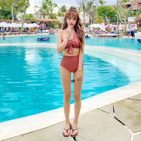 美肩高腰比基尼 泳衣,比基尼,BIKINI,正韓,韓國泳衣,韓國比基尼,連身泳衣,長袖泳衣,兩件式比基尼