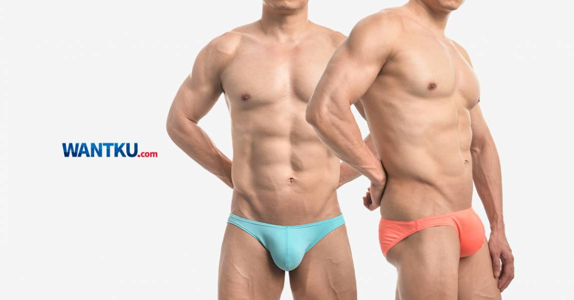 WANTKU 螢光基本款低腰三角褲 男內褲 G31017_1 wantku,超薄,細羅紋,三角褲,男內褲,super thin,texture,briefs,underwear,g30098