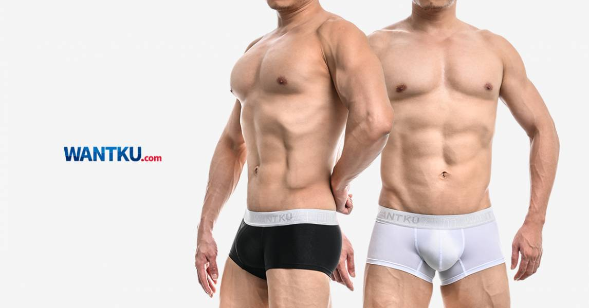 WANTKU 黑白霧面基本款四角褲 男內褲 B51029_1 wantku,霧面,基本款,四角褲,男內褲,b51029,matte,basic style,boxers,underwear,黑色,black,白色,white