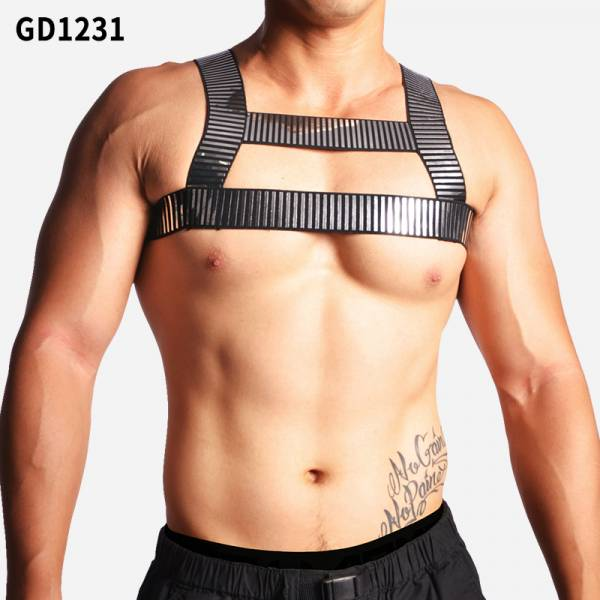 Willmax 亮片彈力工字型胸帶 willmax,亮片,彈力,工字型,胸帶,metallic,silver,sequin,elastic,chest straps