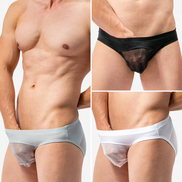 WANTKU 網紗三角褲 男內褲 G3235 wantku,網紗,三角褲,男內褲,mesh,briefs,underwear,g3235