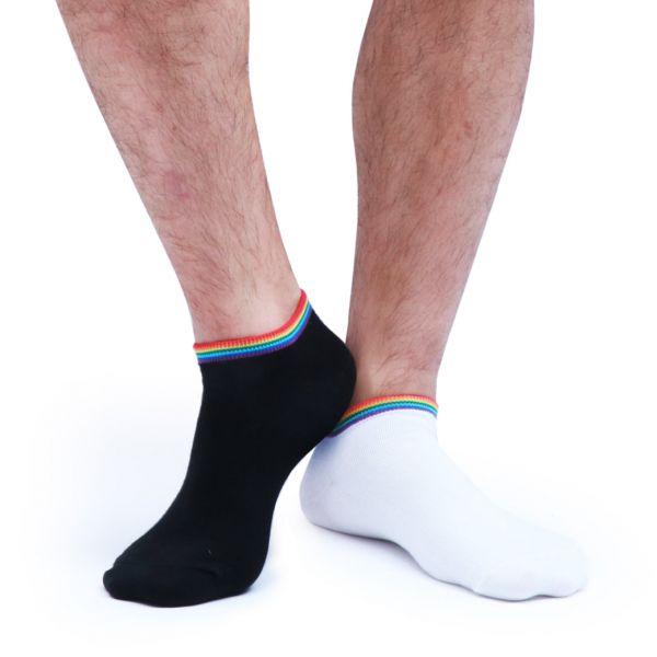 上段彩虹條紋腳踝襪 KS1907 上段,彩虹,條紋,腳踝襪,rainbow,stripes,socks,ks1907