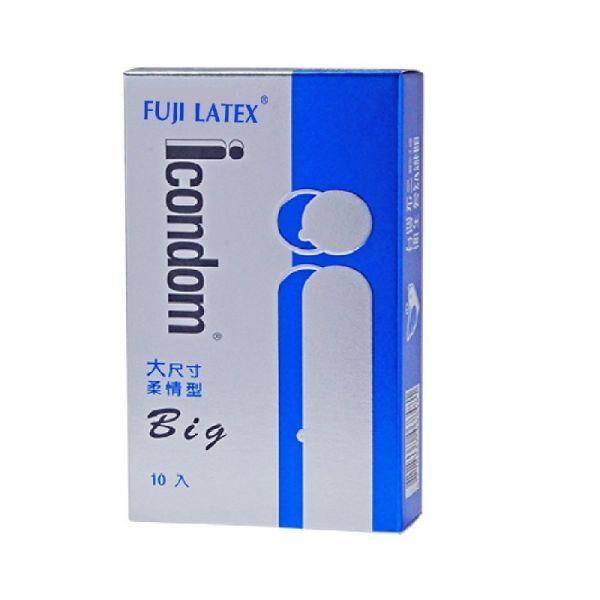ICONDOM艾康頓-大尺寸柔情型衛生套 (保險套) 10入 ICONDOM艾康頓-大尺寸柔情型衛生套 (保險套) 10入