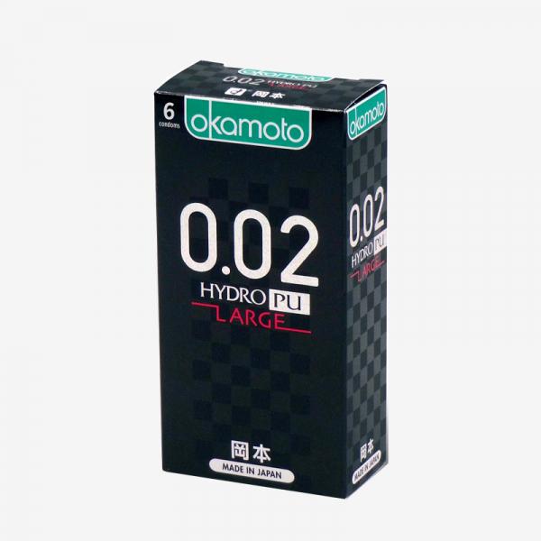 岡本OK 002L極致薄-大碼 衛生套 (6入) #保險套 岡本OK,0.02,極致薄,衛生套,okamoto,hydro,pu,large,condom,保險套